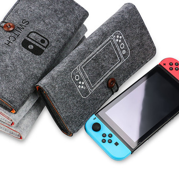 For  Nintend Switch Game Sytem Bag Suede Carry Bags Case Protective Felt Console Travel Storage Carry Handbag For Nintend switch