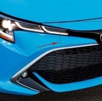Für Toyota Corolla 2019 Fließheck Außen Zubehör Chrom Vorne Maschine Schild Streamer Schutzhülle Trim Auto Styling