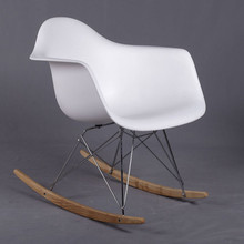 Fashion plastic leisure chair. The rocking chair with armrest. Very moment in the balcony or outdoor use.