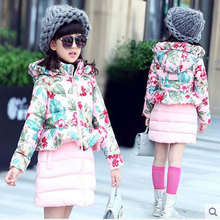 The Child of 2017 New Children Warm Winter In The Thick Coat's Coat Children's Clothing Girl's Clothes Baby Dress Up for Girls