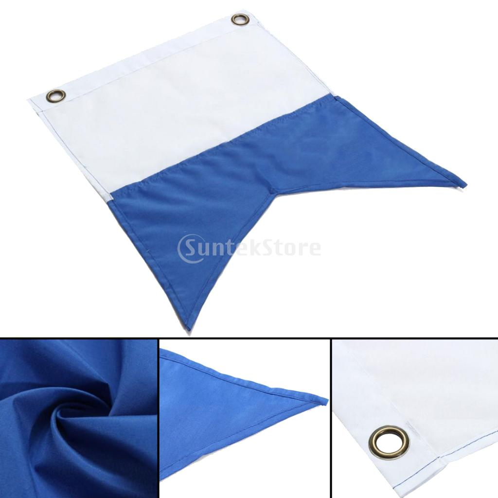 350 X 300mm White And Blue Scuba Diving Dive Boat Alpha Flag National Banner International Sign