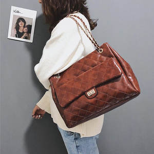 bbbee19a691e Luxury Handbags Women Bags Designer Brand Tote Vintage PU Leather Chain  Large Shoulder Crossbody Bags For Women 2018 sac a main