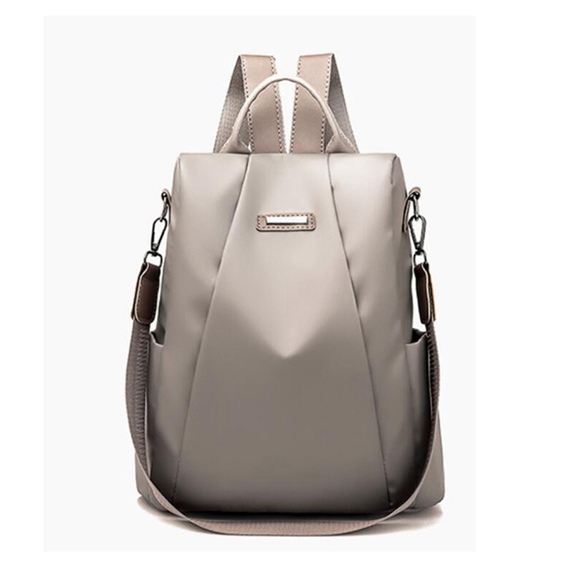 HTB1Lf0hXjzuK1Rjy0Fpq6yEpFXaO Fashion Laptop Backpack Nylon Charge Computer Backpack Anti-theft Waterproof Bag for Women Oxford cloth student bag Teenage