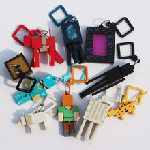 10PCS/Lot Minecraft Micro World 2 Hanger Action Figure Toys Keychain Pendants 3D Minecraft Model Games Collection Toy #F