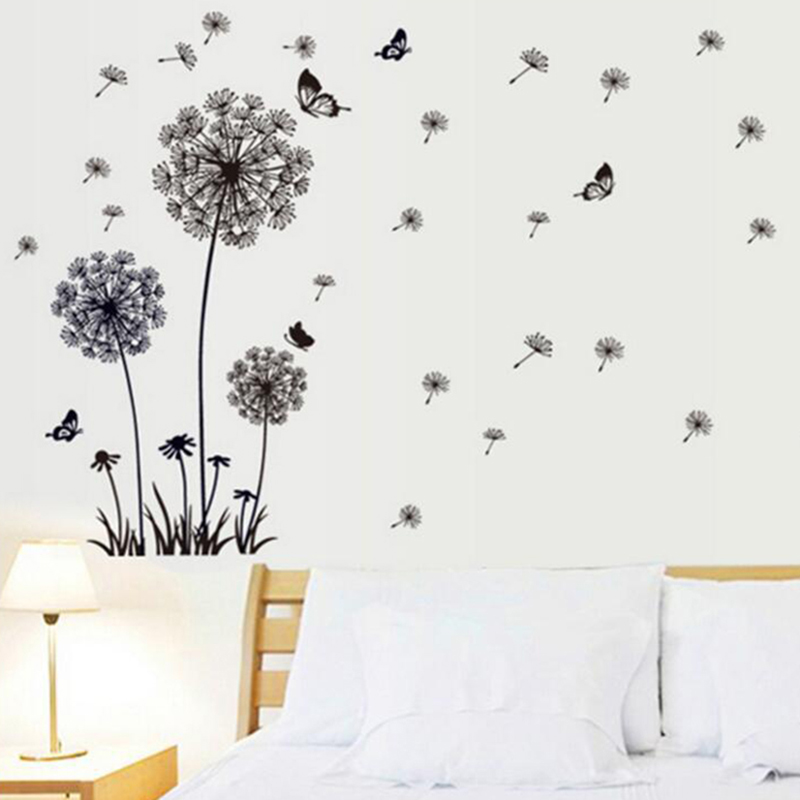 new Dandelion Wall Stickers for kids rooms Removable Vinyl Decal Home Living Room Office DIY Decor stickers muraux
