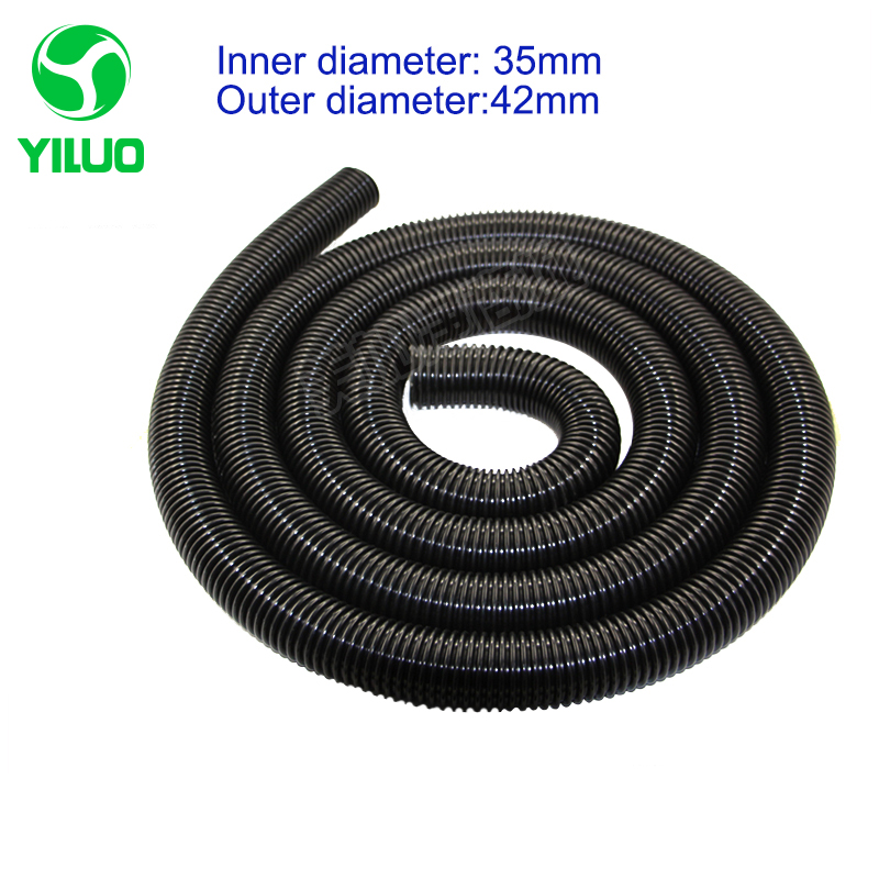 Cheapest 2 meters inner Diameter 35mm Threaded Tube Black High Temperature Flexible suction Hose of Vacuum Cleaner vacuum pump inlet filters f007 7 rc3 out diameter of 340mm high is 360mm