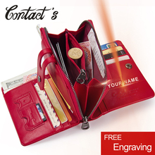 Contacts's 2020 Women Short Wallets Genuine Leather Woman