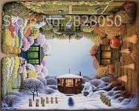 Four Seasons House Scenery DIY Painting By Numbers Acrylic Paint By Numbers HandPainted Oil Painting On