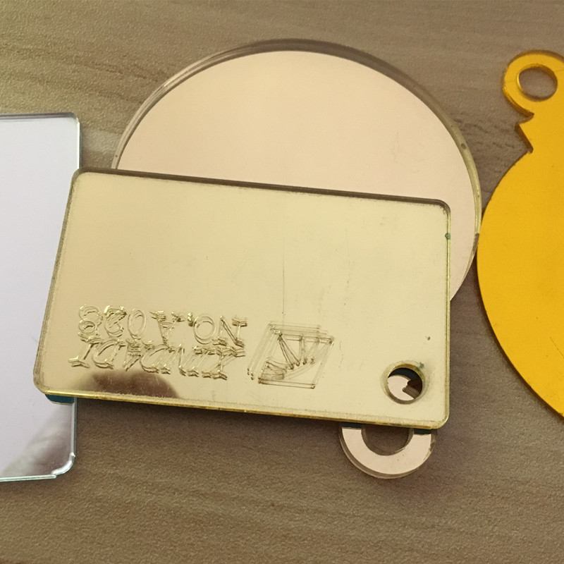 11pcs/lot 400x300x3mm Acrylic Mirrors Gold Home Decor Custom ...
