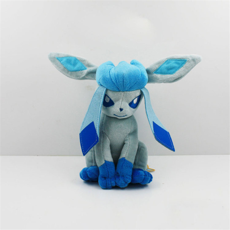 2016 20cm New Hot Glaceon Eevee Plush Toys Anime Glaceon Doll Baby Toys Action Figure Children
