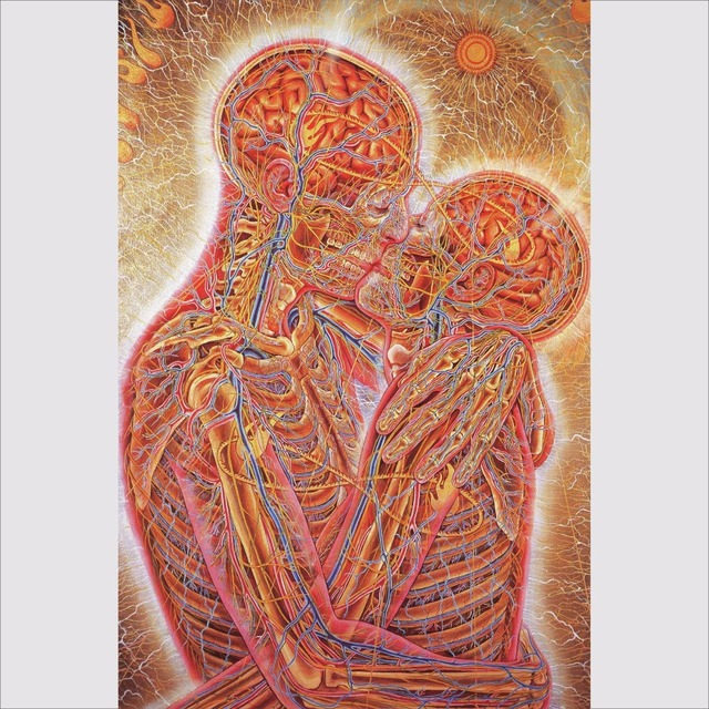 Bianche Wall Alex Grey Oversoul Trippy Psychedelic Abstract Art Silk