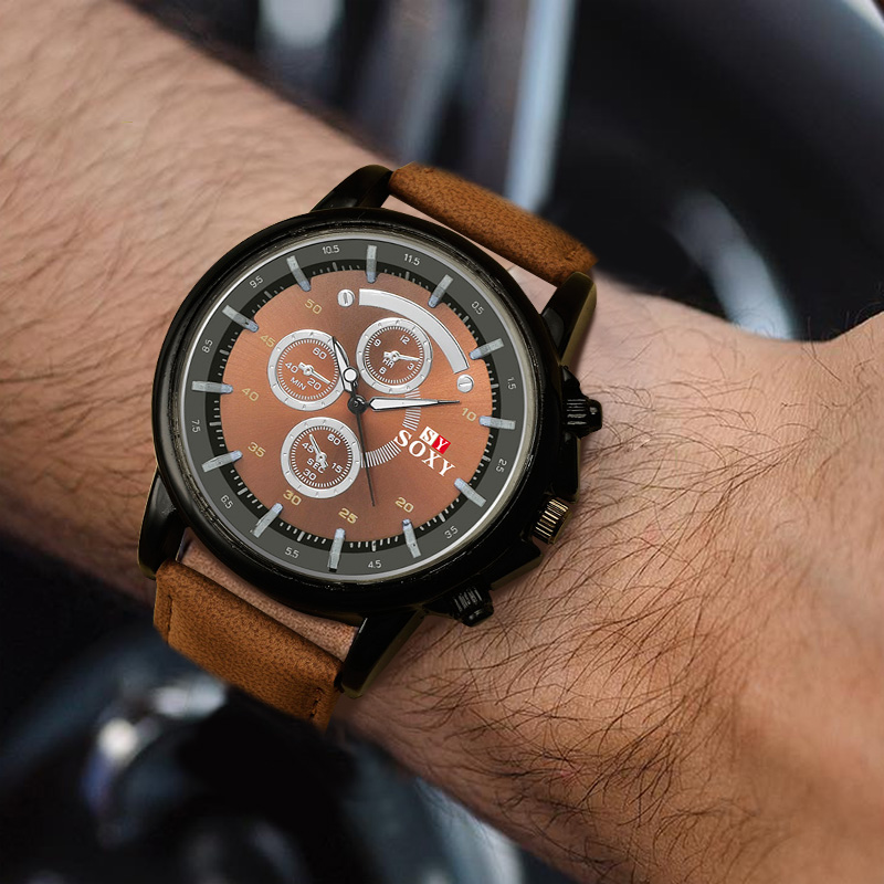 Men Watch Fahsion Leather Sports Watch Erkek Kol Saati Reloj Hombre Relogio Masculino Female Clock Watches For Men 2018 Relojes