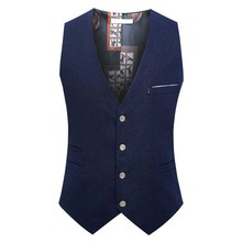 New Fashion Men Suit Vest 4 Button British Sleeveless Jacket Business Casual Waistcoat Thin for Summer Autumn Big Size 6XL