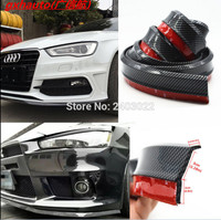 Car Carbon Fiber Front Bumper Spoiler Lip Splitter Chin Protector Rubber For BMW