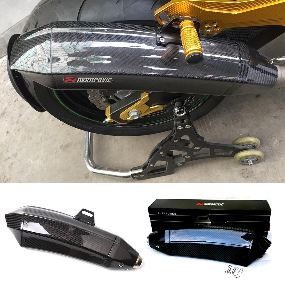 font b Motorcycle b font Carbon Fiber Hexagonal Slip On Muffler font b Exhaust b