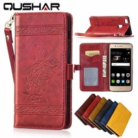 Stand Coque For Huawei P9 Ascend Lite 5 2 Case Luxury Magnetic Flip Wallet PU Leather