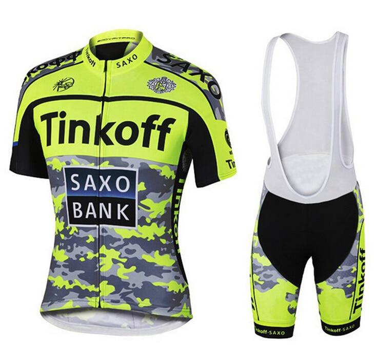 ФОТО Saxo Bank Tinkoff Flour Yellow Cycling Jersey Racing Bike Cycling Clothing Cycle Clothes Wear Ropa Ciclismo Sportswear