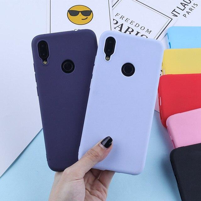 Cukierki kolor silikonowy futerał na telefon TPU obudowa do Xiaomi czerwony mi 7 6 Pro 6A TPU silikonowy matowy pokrowce na czerwony mi uwaga 7 6 5 Pro mi 8 9 Lite