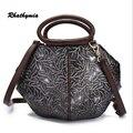 2016 women Embossed bags genuine leather  brand handbag crossbody brand female vintage bags
