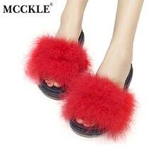 Mcckle 2017 Для женщин Удобная обувь осень-зима платформы Крытый Обувь Короткие Плюшевые ботинки пушистый женские домашние тапочки