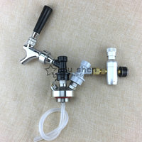 Stainless Steel Mini Keg tap Beer Growler Spear with beer tap faucet and mini co2 charger