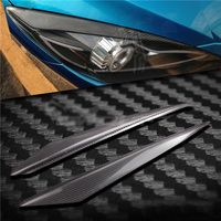 Carbon Fiber Headlight Cover Eyebrows Eyelid Trim Sticker For Mazda 3 M3 10 13