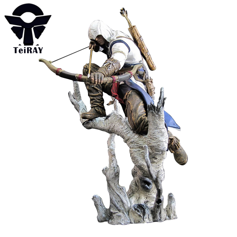 NECA <font><b>Assassins</b></font> <font><b>Creed</b></font> 3 Connor the Hunter Figurine Classic Game Pvc <font><b>Action</b></font> <font><b>Figures</b></font> Juguetes Doll Kids Hot Toys for Children Men
