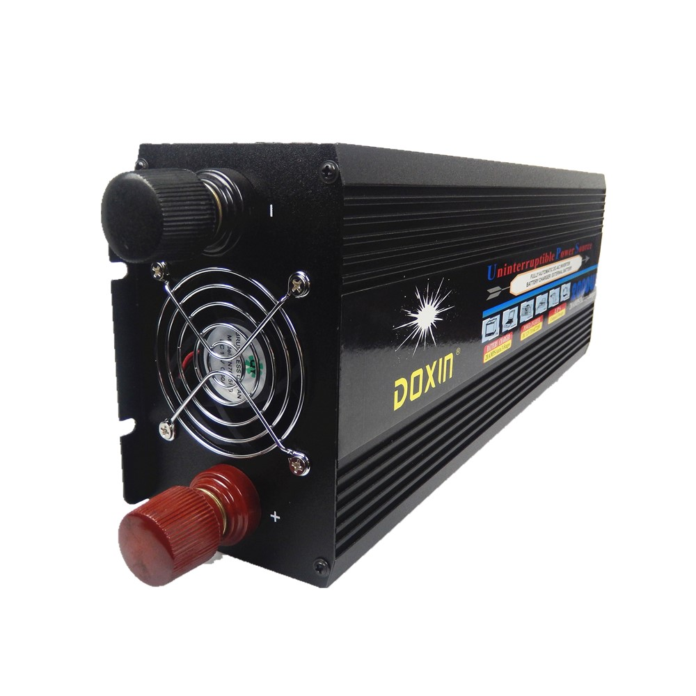 цена на free shipping 2000W DC24V to AC220V modified wave power inverter with battery charger ,UPS power inverter