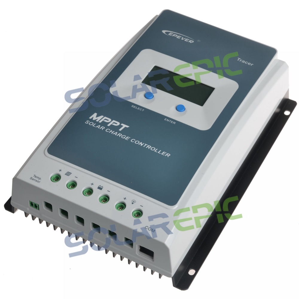 купить Epever 30A MPPT Solar Charge Controller 12V/24V DC Auto Battery Regulator Max 100V PV Input With LCD Display по цене 6546.5 рублей
