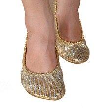 EFINNY Для женщин и девочек обувь для танцы живота без шнуровки; балетки на плоской подошве для гимнастики, Танцы обувь