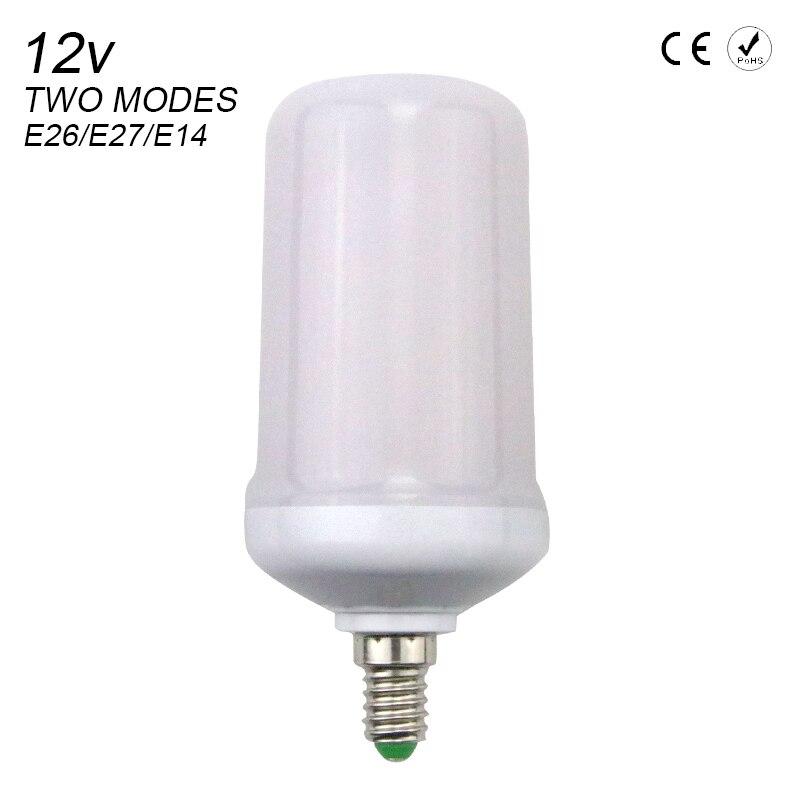 Lâmpadas Led e Tubos lâmpada led efeito chama lâmpada Base Tipo : E27/e26/e14