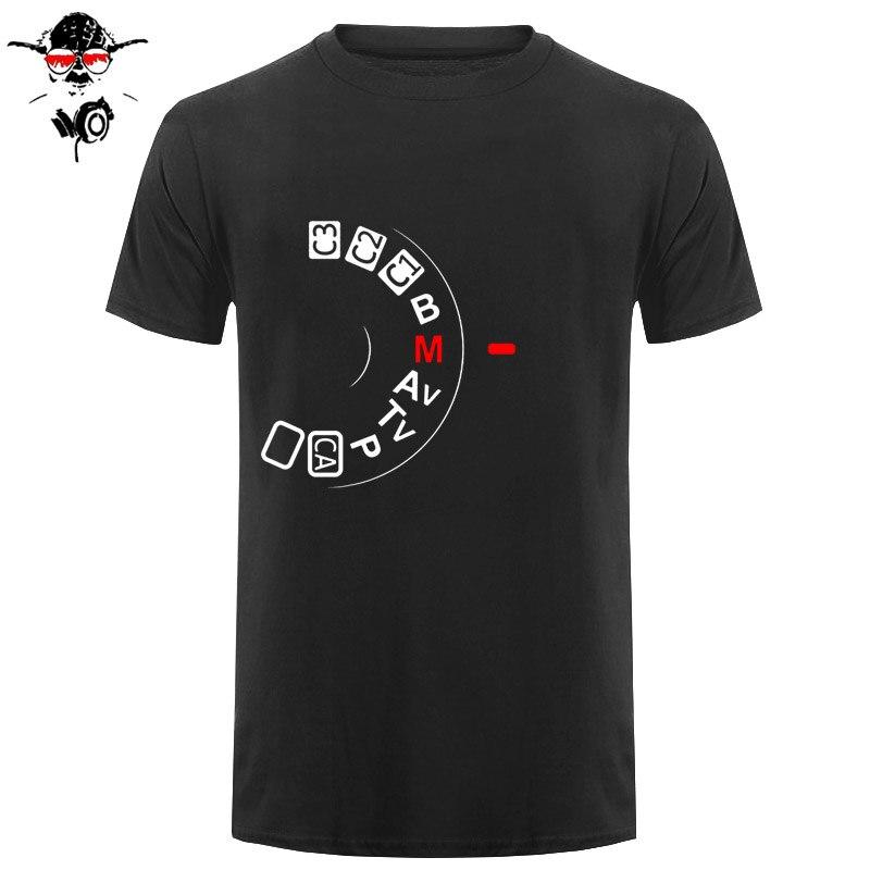 Summer Fashion Camera Button Shoot Manual T Shirt Men Short Sleeve Cotton Photography T Shirts Men Camisetas T-shirt