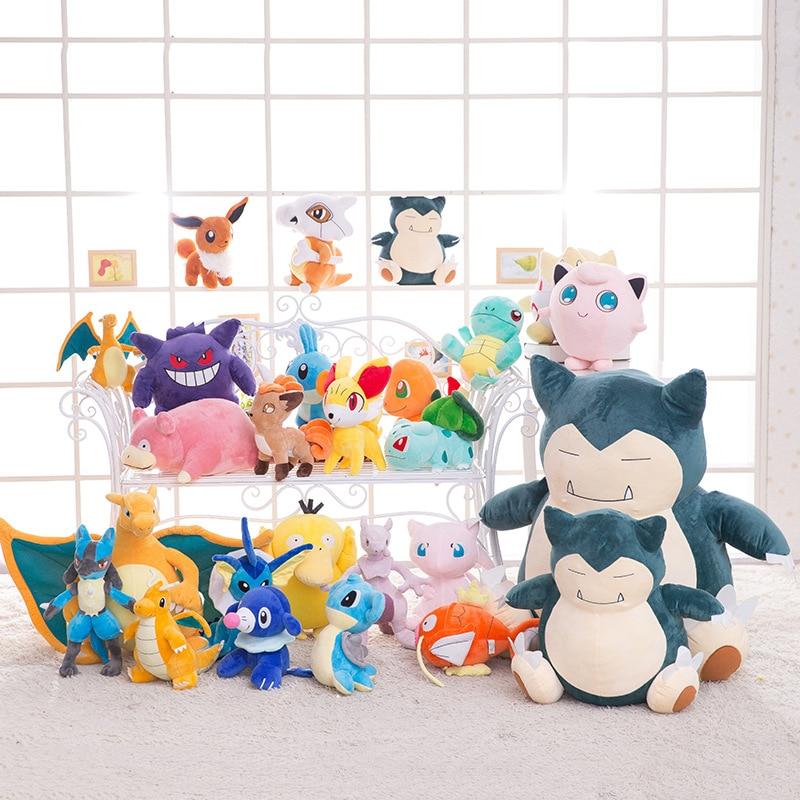 30cm dolls Plush monster Game anime plush toy stuffed animal Pokemoned Pikachu doll children gift girl R170 anime pikachu graduate fitting soft plush toy blue clothes pikachu stuffed dolls 11 27 cm
