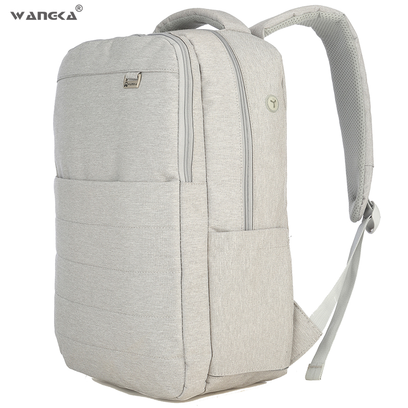 Anti Theft Backpack Canvas School Bags Leisure Business 15.6inch Laptop Backpack With Headphone Interface For Men image