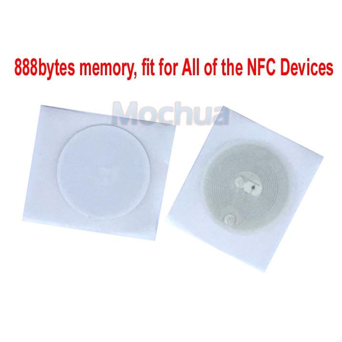 NTAG216 Sticker NFC Tag With Self-adhesive 888 Bytes Memory-10pcs/lot