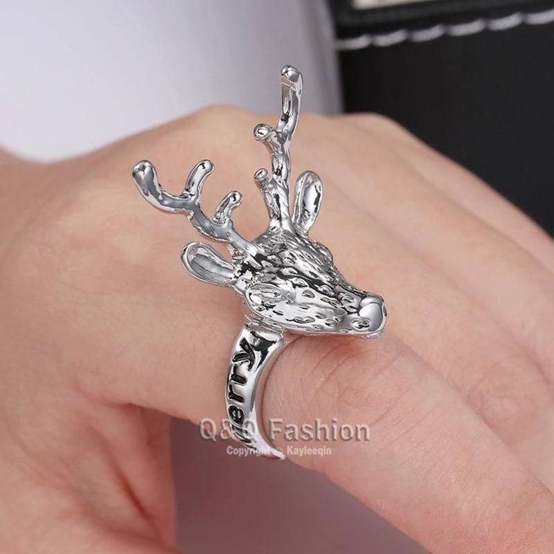Silver Deer Stag Head Pendant /& Chain Costume Fashion Jewellery BNWT