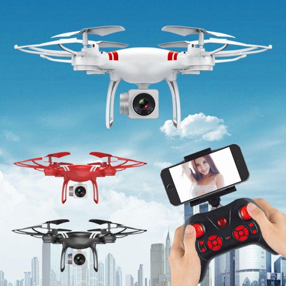 Радиоуправляемый Дрон Широкий формат объектив 0.3MP Камера Wi-Fi FPV Live горючего высоты Безголовый вертолет 2,4 ГГц Drone Прямая доставка подарок