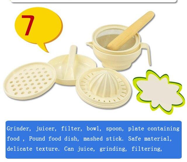 Детские dismembyator измельчения пищи группы детское питание набор 7 шт. набор руководство питание opsoning dismembyator