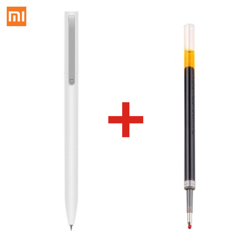 Extra Refills Blue Black Xiaomi Mijia Sign Pen MI Pen 9.5mm Signing Pen PREMEC Smooth Switzerland Refill MiKuni Japan Ink