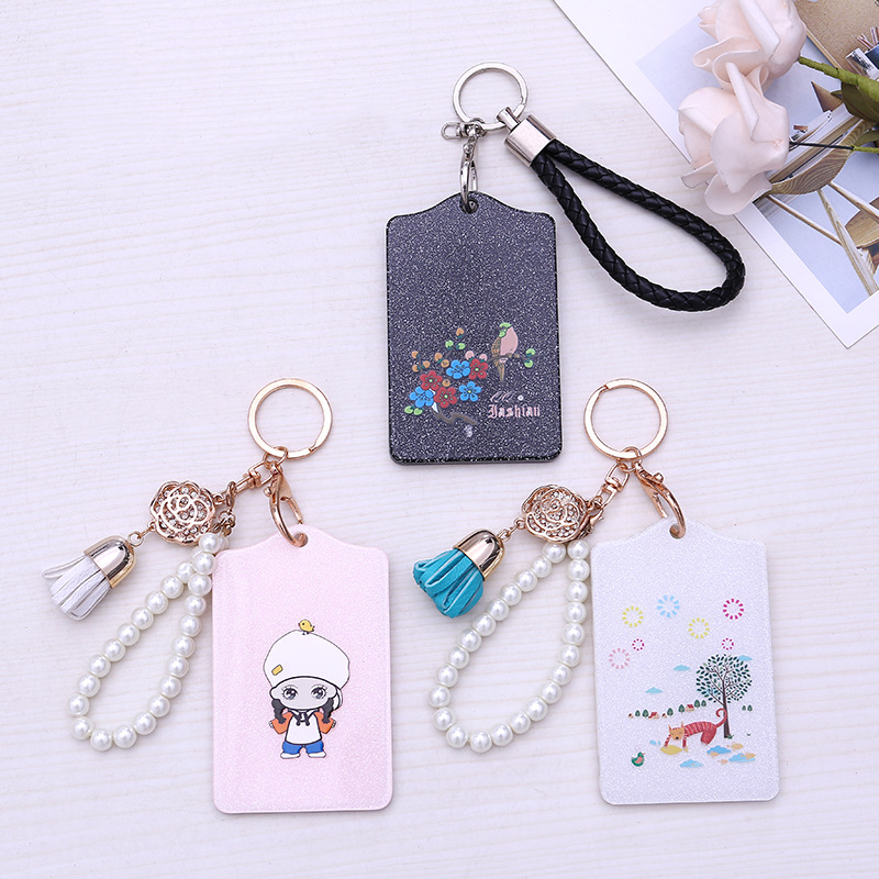 Pu Card Holder Credit Card Bus Card Case Hot Sale Cute Cartoon Panda Duck Monster Design Key Holder Ring Bag Accessories Kt5 Excellent In Cushion Effect Coin Purses & Holders