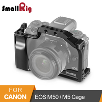 SmallRig DSLR Camera Cage for Canon EOS M50 / M5 Cage With Nato Rail Cold Shoe Mount For Quick Release Attachment 2168
