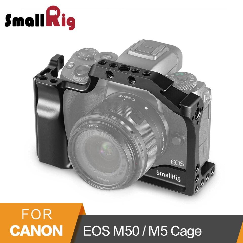 Jaula para cámara DSLR para Canon EOS M50/M5 Cage con montura de zapata fría en carril Nato para fijación de liberación rápida 2168