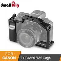 SmallRig DSLR Kamera Käfig für Canon EOS M50/M5 Käfig Mit Nato Schiene Kalten Schuh Halterung Für Quick Release befestigung 2168