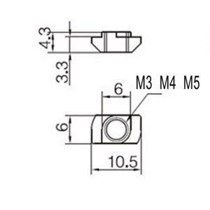 Image 2 - 50 шт. M3/M4/M510 * 6 для 20 серии T, Т образная гайка, скользящий TNut Hammer, крепежная гайка, коннектор, высокая прочность, твердость