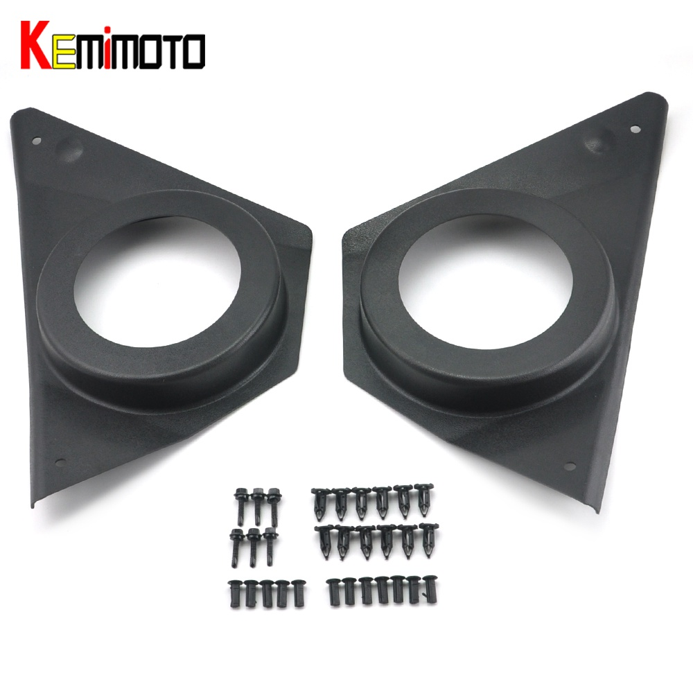 KEMiMOTO for Polaris RZR XP 1000 RZR 900 ACE 900 ACE 570 Door Speaker Pod Set for UTV Off-road 2014 2015 2016 2017