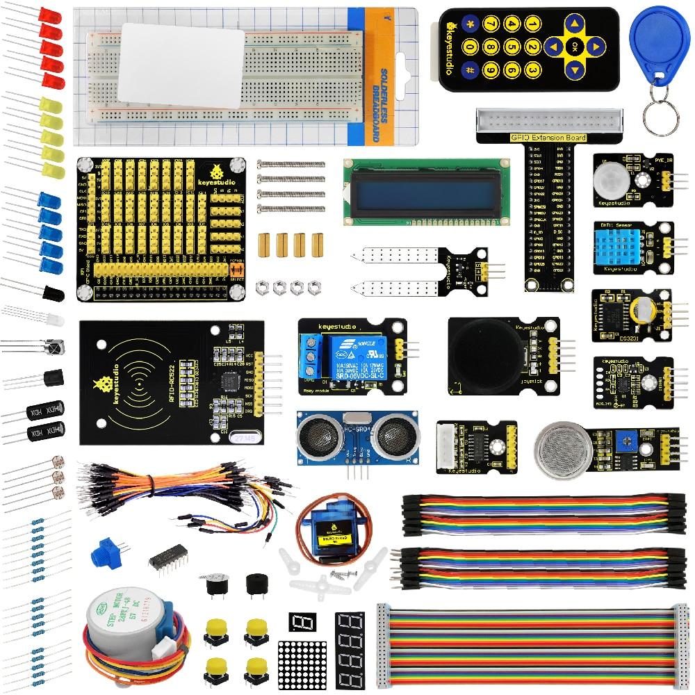 keyestudio New Ultimate Starter Kit Learning Kit for Raspberry Pi 3 2 Model B/B+ w/Tutorial, ADXL345, Ultrasonic,lcd 1602 yokatta model 28 6 5x16 5x108 d63 3 et50 w b