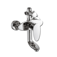 Free Shipping Wholesale Solid Brass Bath Shower Faucet With Top Quality Polished Chrome Bathroom Shower Faucet