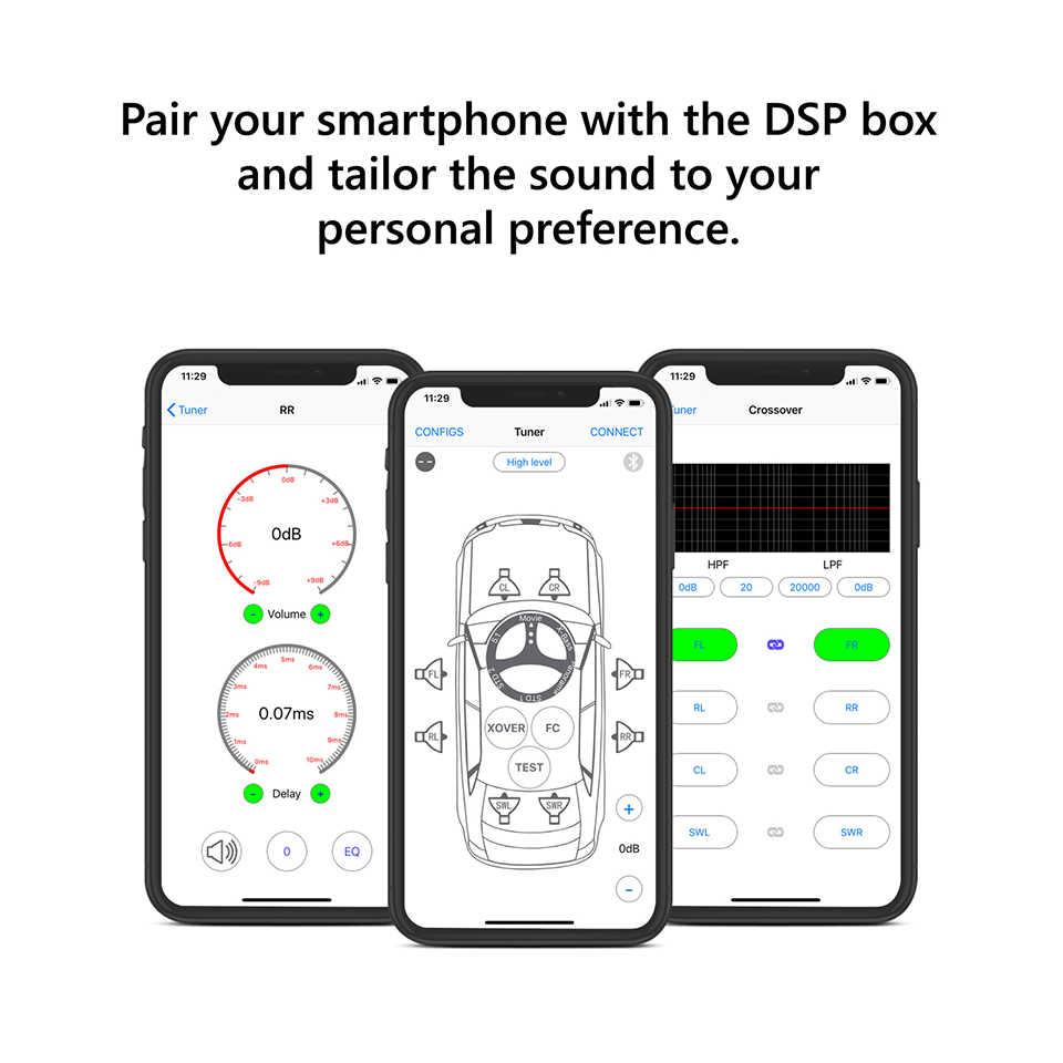 eonon c0057b car audio digital signal processing bluetooth dsp amplifier support bluetooth 4 2 wireless for bmw [ 960 x 960 Pixel ]