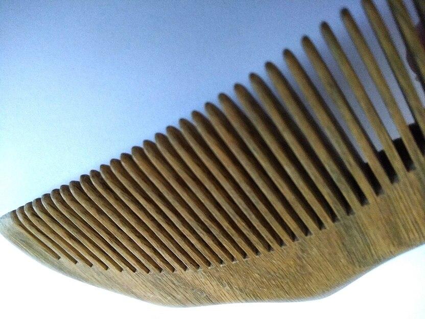 Natural Wood Green Sandalwood Wavy Comb Pocket Beard Comb Wholesale Hair/Beard Brush Comb For Men