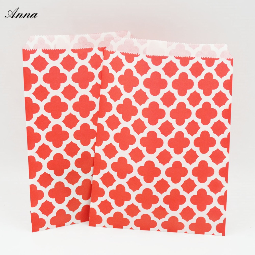25pcs Kraft Paper Candy bag holder Popcorn Bag For Wedding Birthday ...